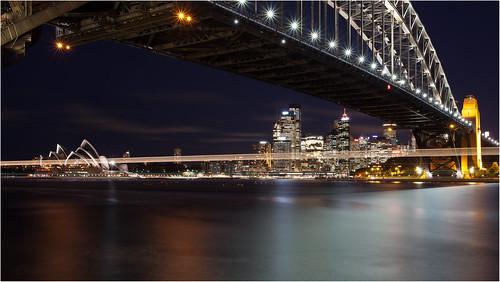 bridge blue sunset sky water harbour steel sydney australia newsouthwales australien sydneyharbourbridge ef1740mmf4lusm canoneos5dmarkii