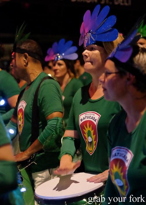 Batucada parade samba dancers at the Cuba Dupa Festival 2015, Wellington