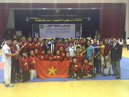 Karatedo Việt Nam giành ngôi đầu giải Đông Nam Á