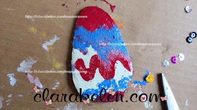 Técnica de pintura mixta de acrilico y esmaltes en carton