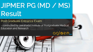 JIPMER PG (MD / MS) Result 2017 and Merit List