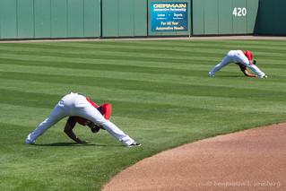Pre-game stretching