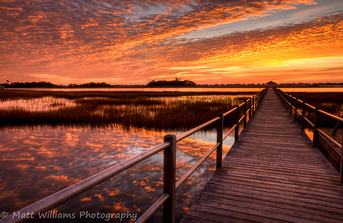 light reflection nature water clouds sunrise landscape coast pier nikon colorful northcarolina sound marsh naturephotography landscapephotography d90 mattwilliamsphotography