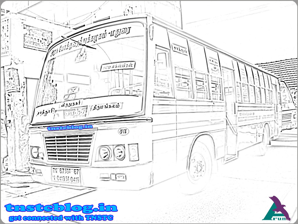 TN-67N-0419 of Sattur Depot Route : Sattur - Thirumangalam via R.R.Nagar, Virudhunagar, Karisalkalampatti.