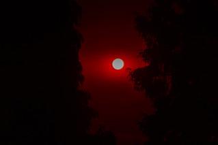 Full Moon on a Fiery Night