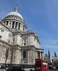 St. Paul's Cathedral and red bus