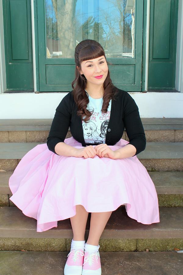 hell bunny pink skirt
