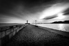 Lighthouse Sassnitz in black and white