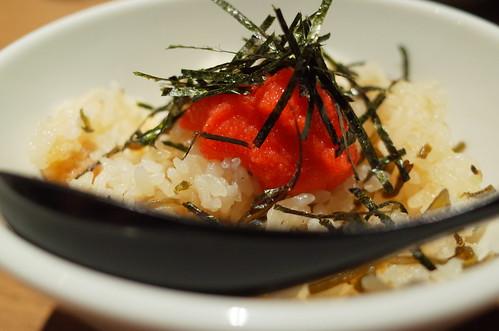 明太子と塩昆布の炊き込みご飯