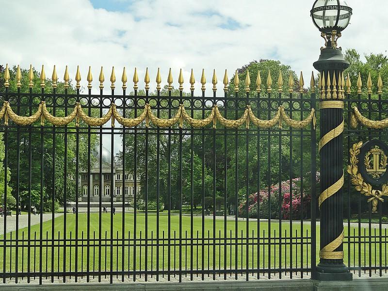 Gates at the Royal Castle of Laeken, Brussels, Belgium