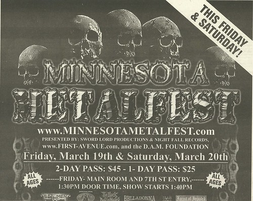 03/19 - 20/04 Minnesota Metalfest 2004 @ First Avenue & 7th Street Entry, Minneapolis, MN (Ad 2- Top)
