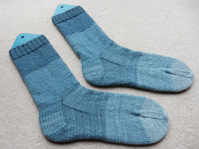 Five shades of blue socks (2)