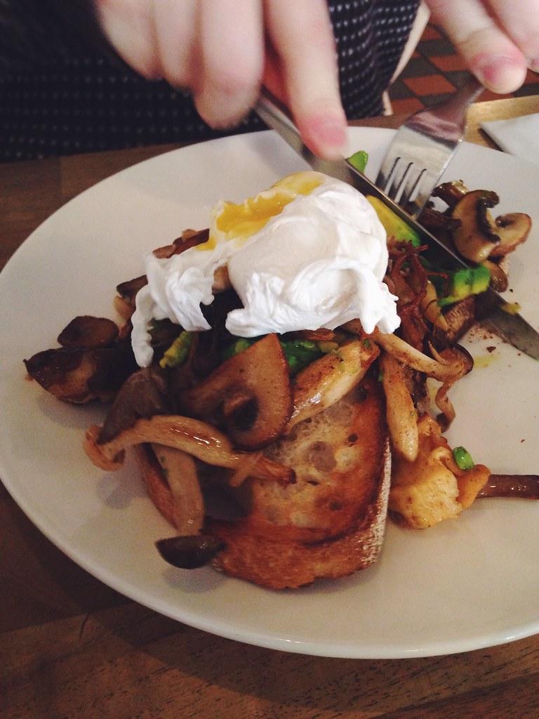 teacup kitchen Manchester mushrooms on toast