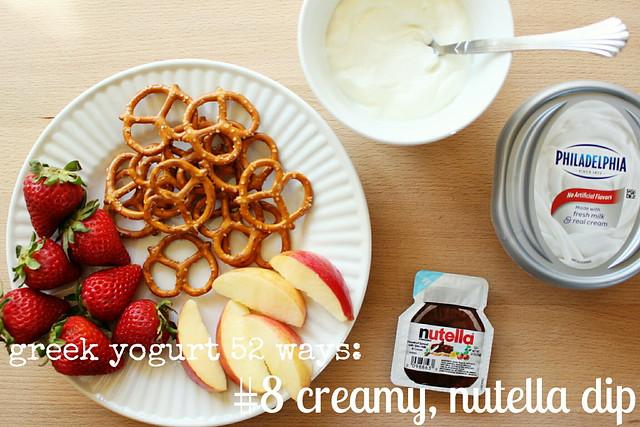 greek yogurt 52 ways: no. 8 creamy, nutella dip
