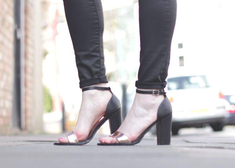 Wallis rose gold metallic strappy sandals, Bumpkin Betty