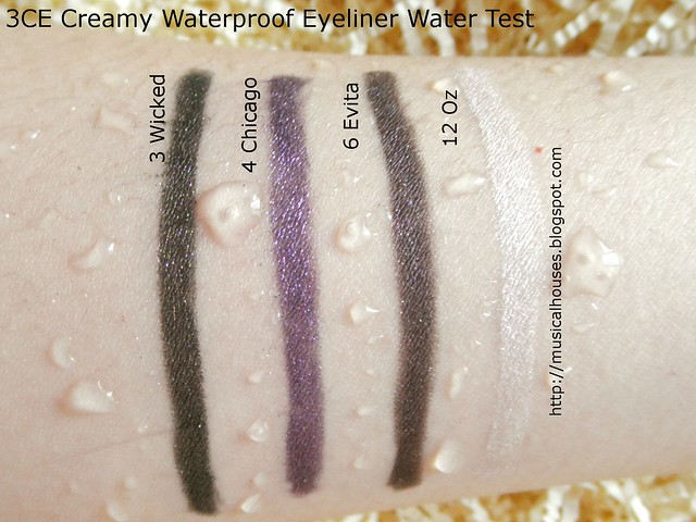 3CE Creamy Waterproof Eyeliner Waterproof Test