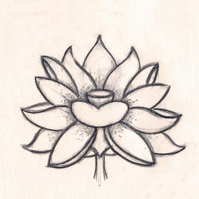 Fleurs lotus dessin - Fleur de lotus bouddhisme ...