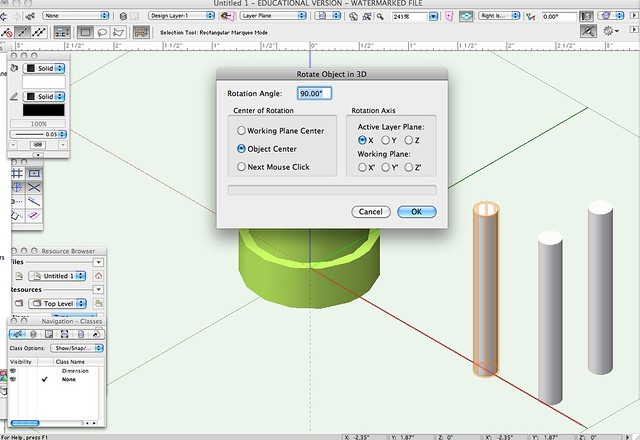 how to add finish to extrude in vectorworks