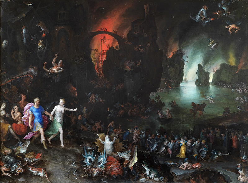 Jan Brueghel The Elder - Aeneas and Sibyl in the Underworld, 1594