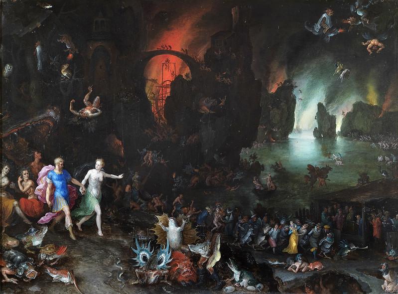 Jan Brueghel The Elder - Aeneas and Sibyl in the Underworld, 1594