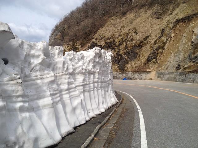 伊吹山ドライブウェイ 雪の兵隊