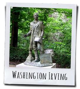 De route van de Amerikaanse schrijver Washington Irving