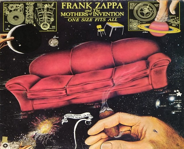 """FRANK ZAPPA & MOTHERS OF INVENTION ONE SIZE FITS ALL FOC 12"""" LP VINYL"""
