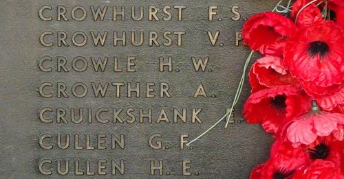 Crowle & Cruickshank at the Memorial