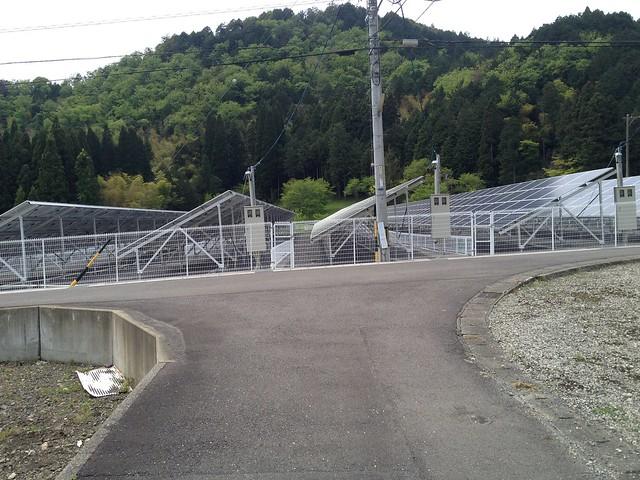 相戸岳 西ルート 太陽光発電