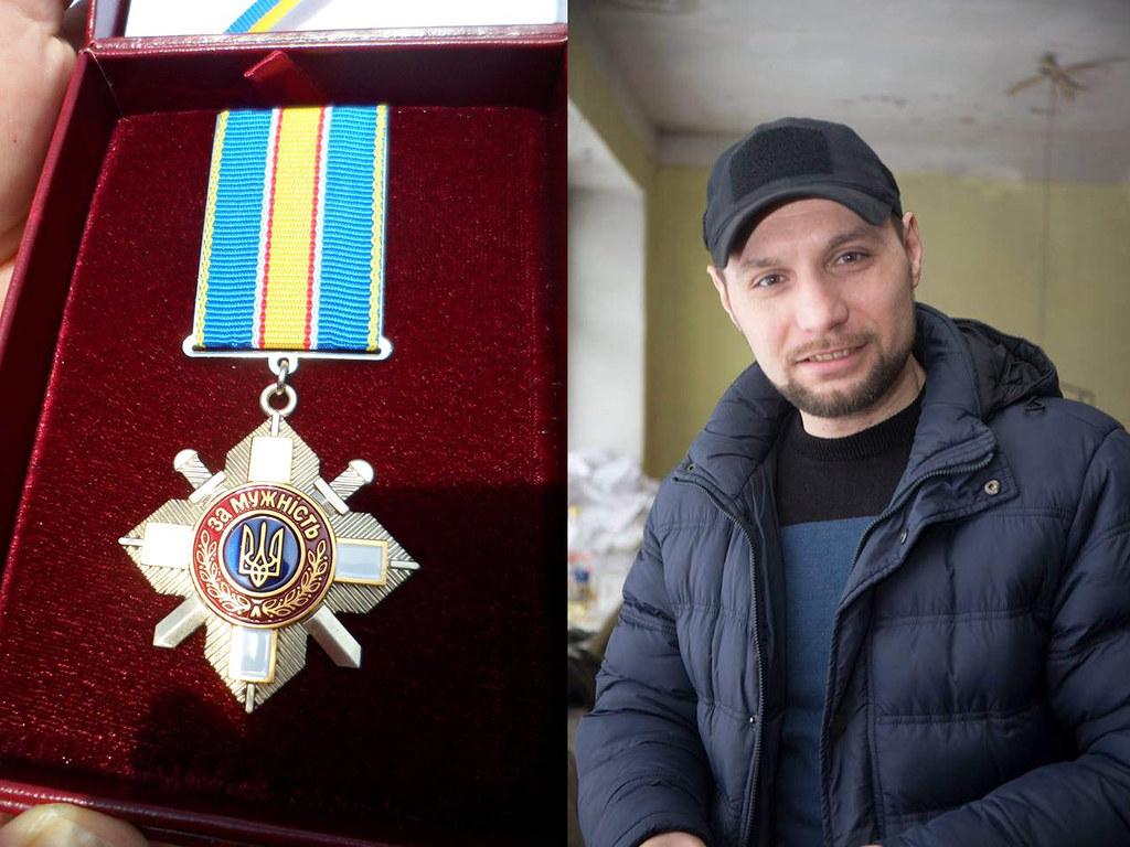 """Володимиру Полешку вручили медаль """"За мужність"""" ІІІ ступеню, Лозова"""