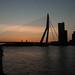Sunrise Erasmusbrug Rotterdam by schouwenburge