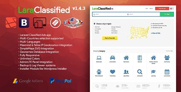 LaraClassified v1.1 - Geo Classified Ads CMS