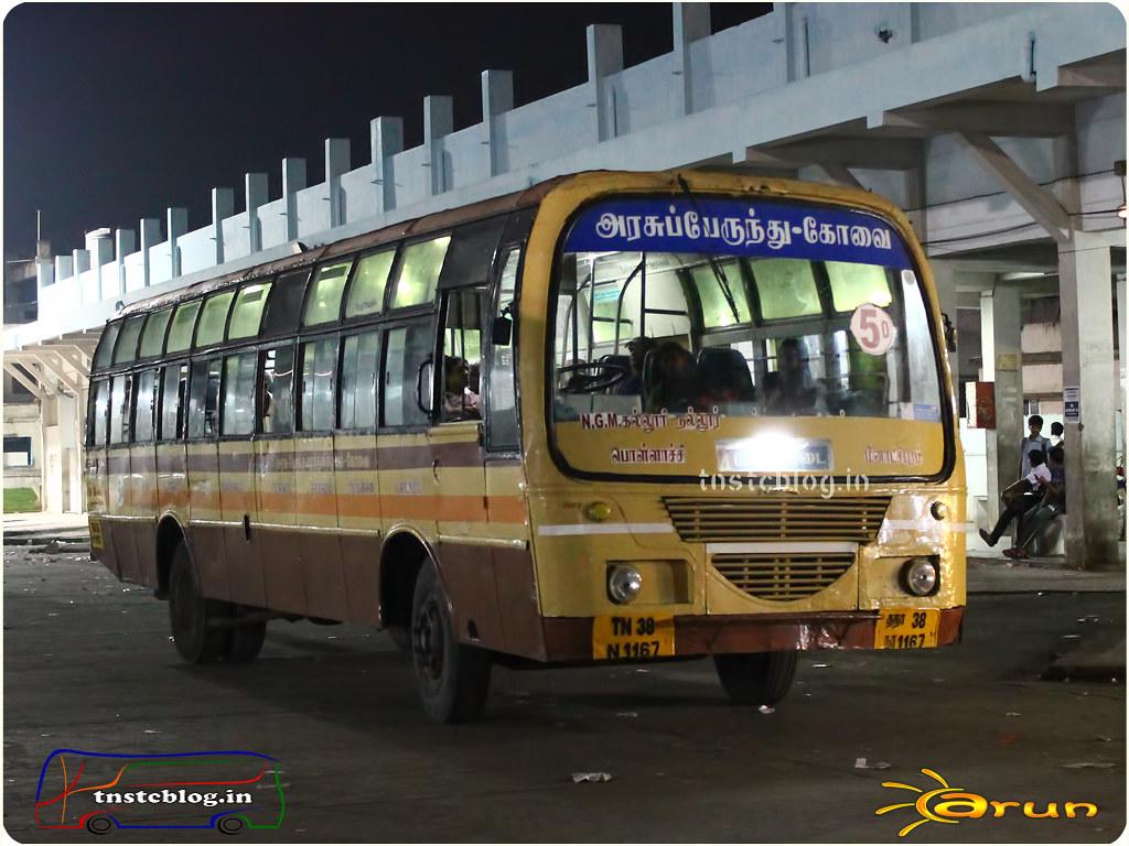 TN-38N-1167 of Pollachi 1 Depot Route 34 Pollachi - Sethumadai.