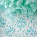 'Floral Garland Blue' fabric from Elephant in my Handbag 1