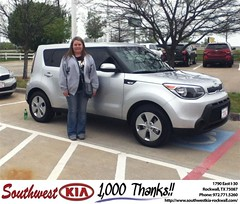 #HappyAnniversary to Wendy Jarvis on your 2014 #Kia #Soul from Paula  Lovejoy  at Southwest KIA Rockwall!