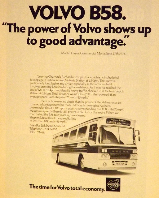 Volvo B58 trade advertisement