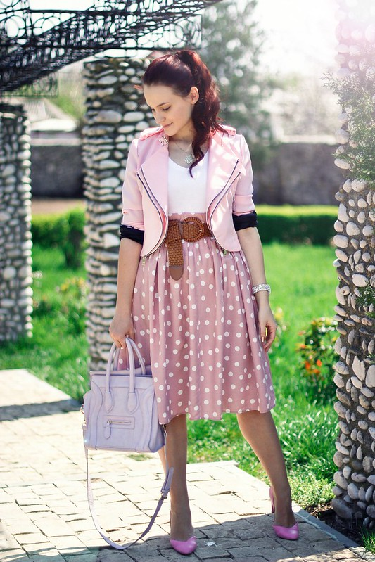 polka dots skirt1