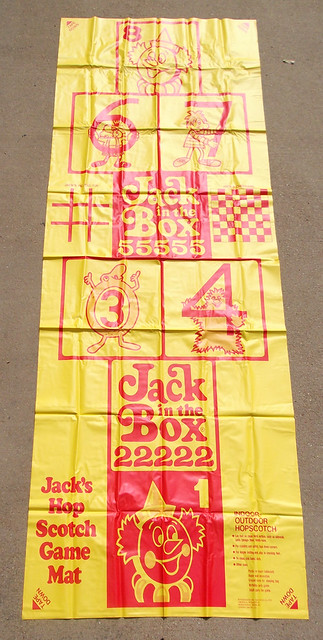 vintage 1973 jack in the box hopscotch game mat premium a photo on flickriver. Black Bedroom Furniture Sets. Home Design Ideas