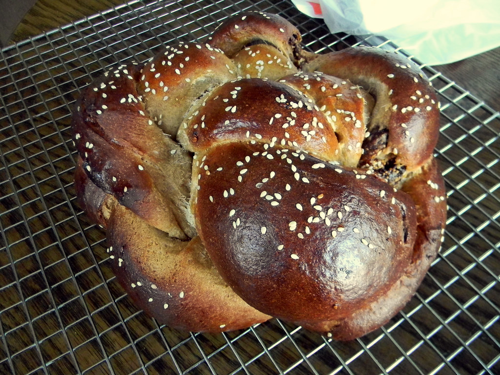 Figgy Olive Oil & Sesame Challah