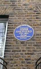 Photo of Thomas Hosmer Shepherd blue plaque