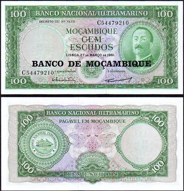 100 Escudos Mozambik 1976