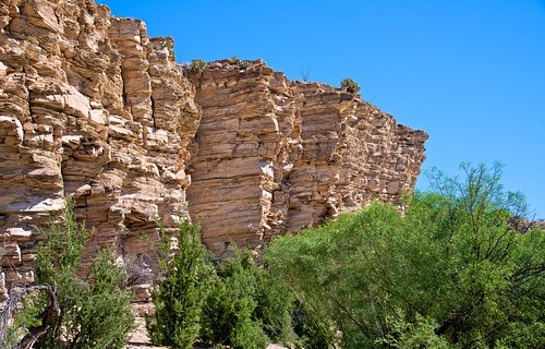 A Cross Section of Limestone Walls While Walking a Trail (Big Bend National Park)