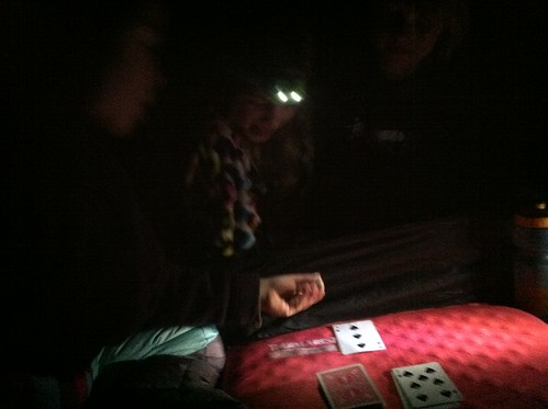 Rainy night DIY RPG in the tent with three kiddos