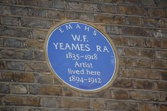 Photo of William Frederick Yeames blue plaque