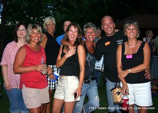 AHS 1985 25th reunion Lori Peterson Kim (Zenor) Sheila Swenson Brenda Pedigo Lori Birdseye Gene Jenson Roni Sue Eckroad Aug 14, 2010 7-26 PM