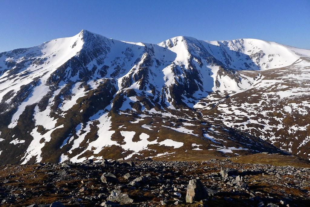 Bidean an Eoin Dearg from ascent of Maoile Lunndaidh