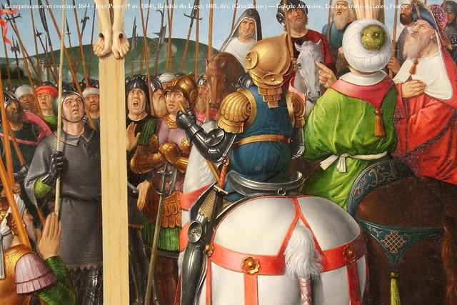 La représentation continue 1644 - Jean Poyer (✝ av. 1504), Retable du Liget, 1485, dét. (Crucifixion) — Galerie Antonine, Loches, Indre-&-Loire, France