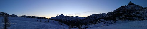 sunset snow tramonto panoramica neve lanzada panoramicview valmalenco so