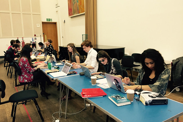 Hard at work at the ROH Student Ambassador Editathon, 18 March 2015