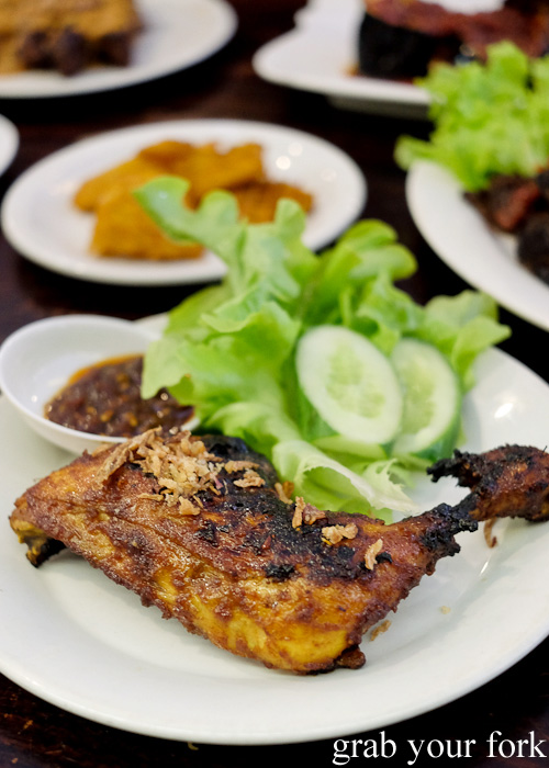 Ayam bakar grilled chicken at Indo Rasa, Kingsford